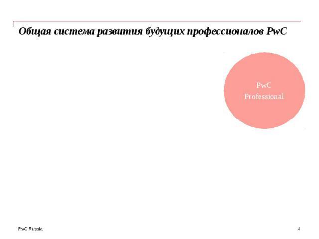 Общая система развития будущих профессионалов PwC