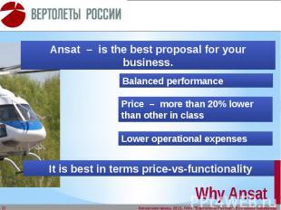 Why Ansat