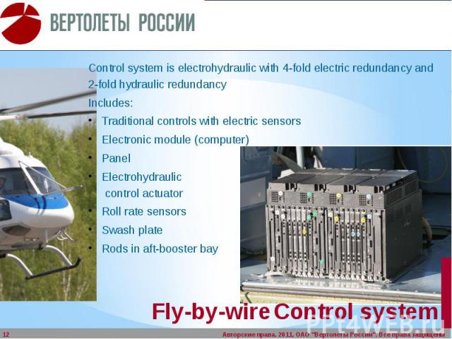 Fly-by-wire Control system