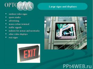 outdoor video signs outdoor video signs sports stadia advertising mono-colour te