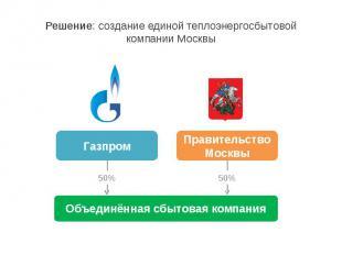 Решение: создание единой теплоэнергосбытовой компании Москвы