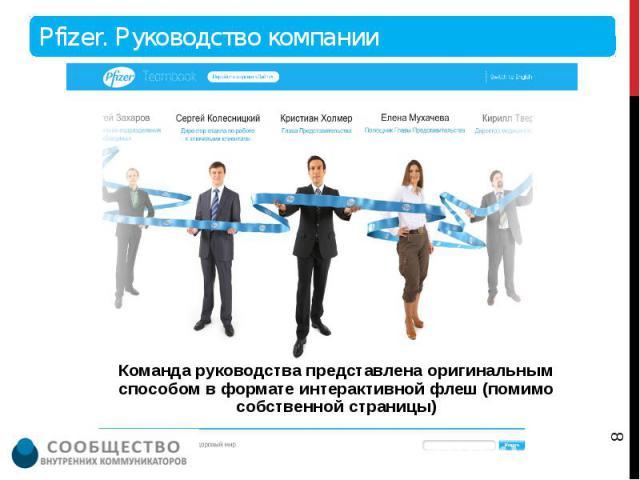 Команда руководства представлена оригинальным способом в формате интерактивной флеш (помимо собственной страницы) Команда руководства представлена оригинальным способом в формате интерактивной флеш (помимо собственной страницы)