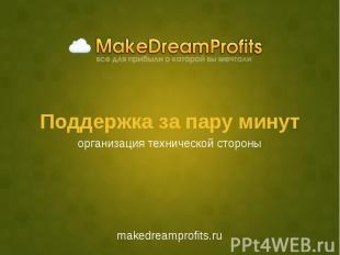 Поддержка за пару минут makedreamprofits.ru
