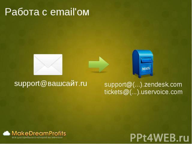 Работа с email'ом