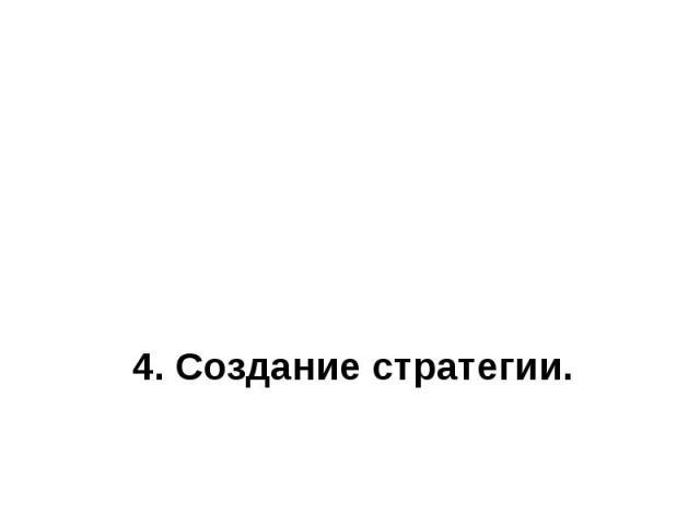 4. Создание стратегии.