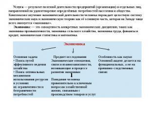 Услуга — результат полезной деятельности предприятий (организации) и отдельных л