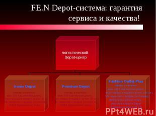 FE.N Depot-система: гарантия сервиса и качества!