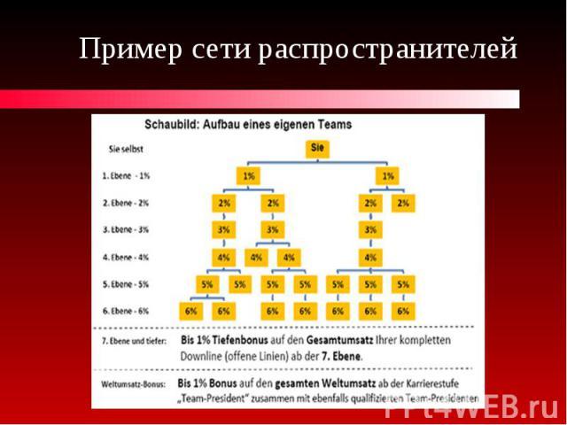 Пример сети распространителей