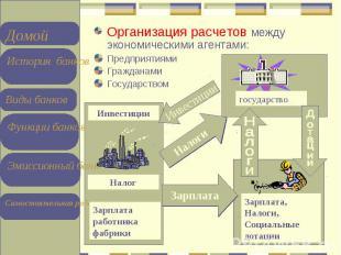 Организация расчетов между экономическими агентами: Организация расчетов между э