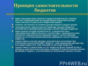 право законодательных органов государственной власти и органов местного самоупра