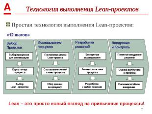 Простая технология выполнения Lean-проектов: Простая технология выполнения Lean-
