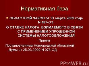 ОБЛАСТНОЙ ЗАКОН от 31марта2009года N487-ОЗ ОБЛАСТНОЙ ЗАК