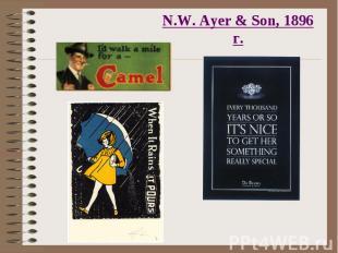 N.W. Ayer & Son, 1896 г.