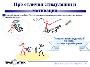 Взаимодействие с людьми. Чем настоящая мотивация отличается от стимулов по типу