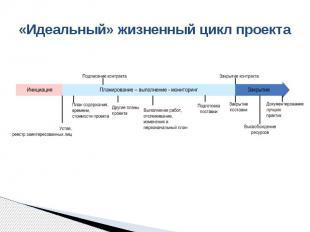 «Идеальный» жизненный цикл проекта