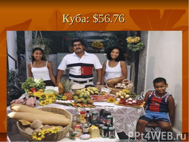 Куба: $56.76