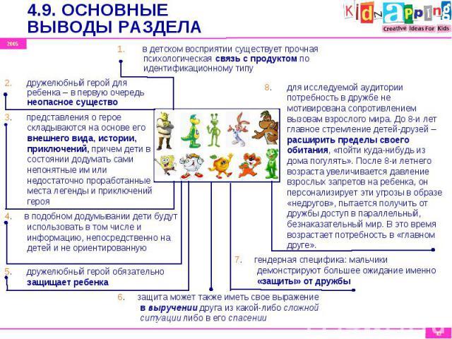 1. в детском восприятии существует прочная психологическая связь с продуктом по идентификационному типу 1. в детском восприятии существует прочная психологическая связь с продуктом по идентификационному типу