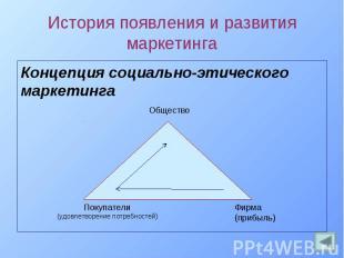 Концепция социально-этического Концепция социально-этического маркетинга