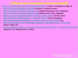 Список источников иллюстраций http://www.liveinternet.ru/users/4491121/post18030