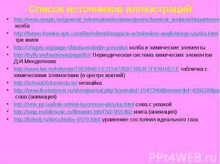 Список источников иллюстраций http://www.omgtu.ru/general_information/institutes