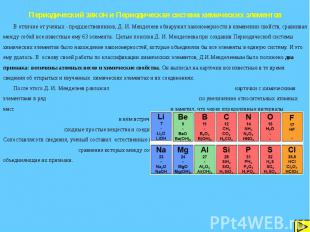 Периодический закон и Периодическая система химических элементов В отличие от уч