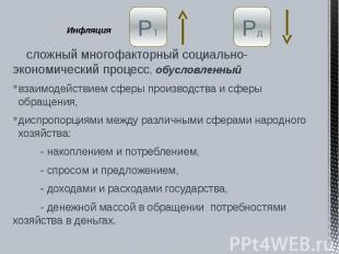Инфляция сложный многофакторный социально-экономический процесс, обусловленный в