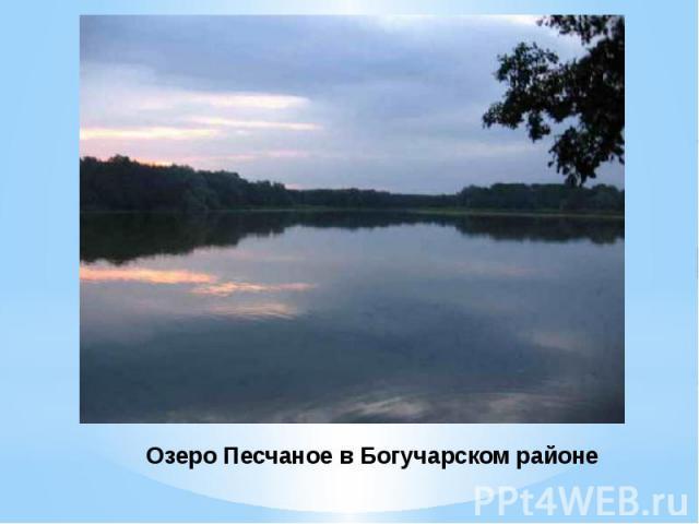 Озеро Песчаное в Богучарском районе
