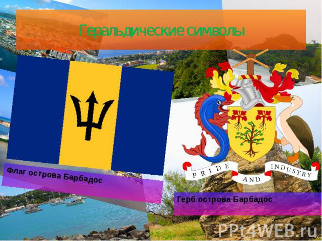 Геральдические символы Герб острова Барбадос