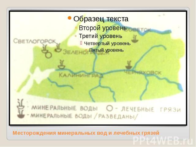Месторождения минеральных вод и лечебных грязей