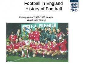 Football in England History of Football