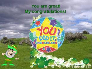 You are great! My congratulations!