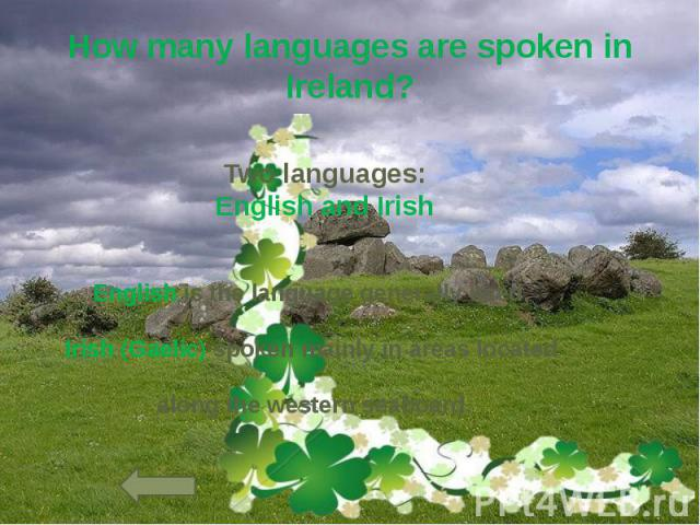 How many languages are spoken in Ireland?