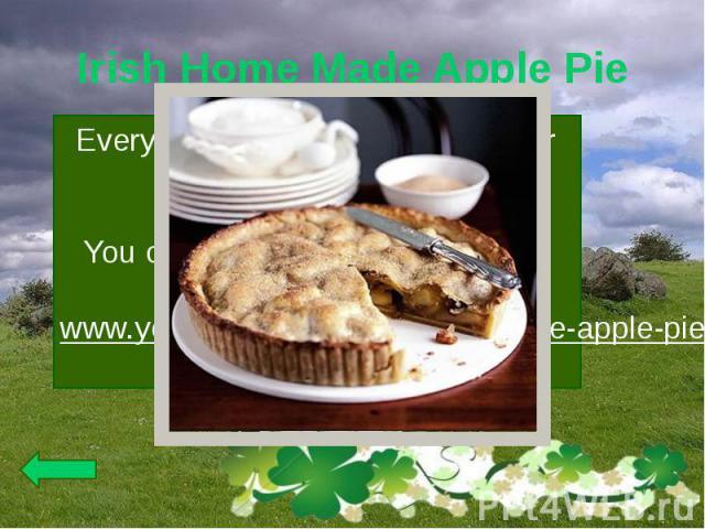 Irish Home Made Apple Pie