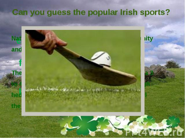 Can you guess the popular Irish sports?