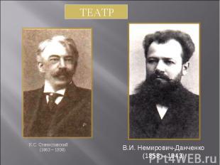 К.С. Станиславский К.С. Станиславский (1863 – 1938)