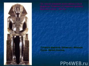 По тем же канонам выполнена статуя фараона Тутмоса I из черного гранита. Высота