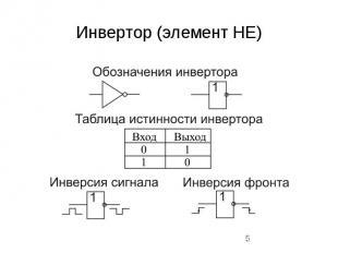 Инвертор (элемент НЕ)