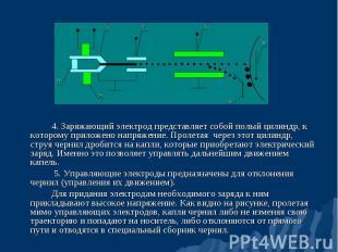 4. Заряжающий электрод представляет собой полый цилиндр, к которому приложено на