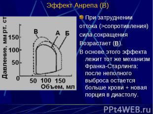 При затруднении При затруднении оттока (>сопротивления) сила сокращения Возра