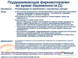Поддерживающая фармакотерапия во время беременности (1)