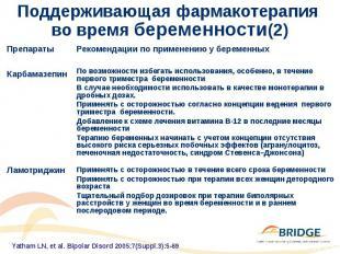 Поддерживающая фармакотерапия во время беременности(2)