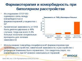 Фармакотерапия и коморбидность при биполярном расстройстве