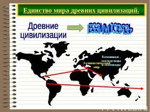 Единство мира древних цивилизаций.