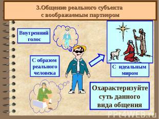 3.Общение реального субъекта с воображаемым партнером