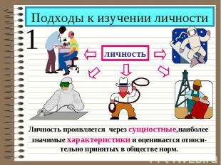 Подходы к изучении личности