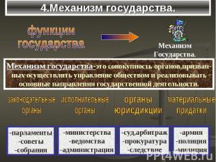 4.Механизм государства.