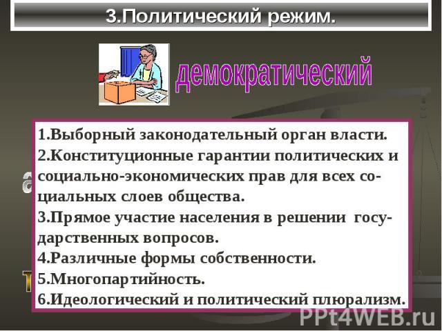 3.Политический режим.