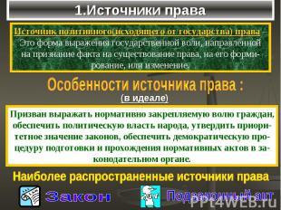 1.Источники права
