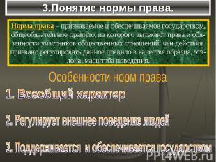 3.Понятие нормы права.