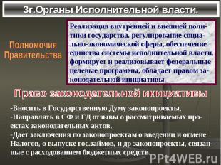 3г.Органы Исполнительной власти.